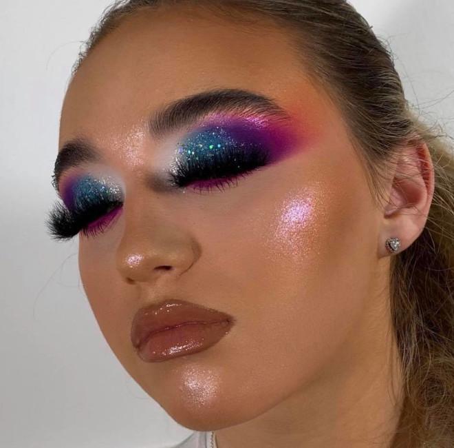 shimmery & glitter eyeshadow makeup looks