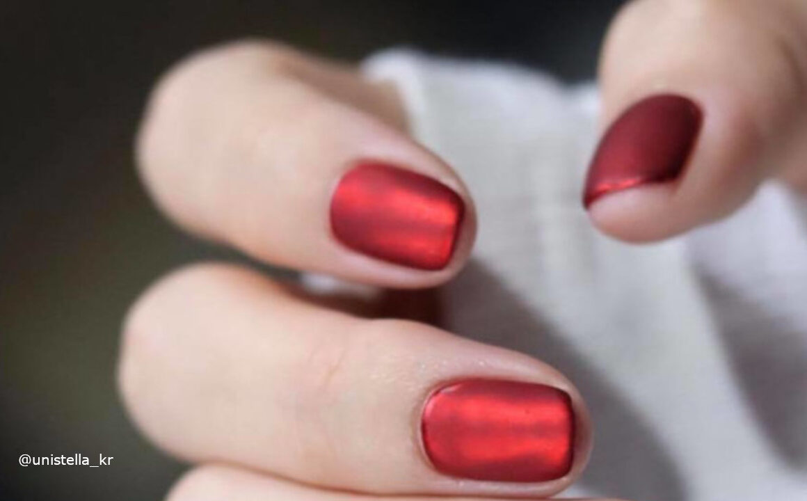 Velvet Nails Are Trending For Winter