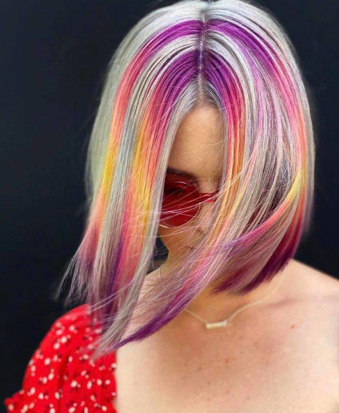 bold & beautiful chunky highlights ideas to embrace your 90s nostalgia