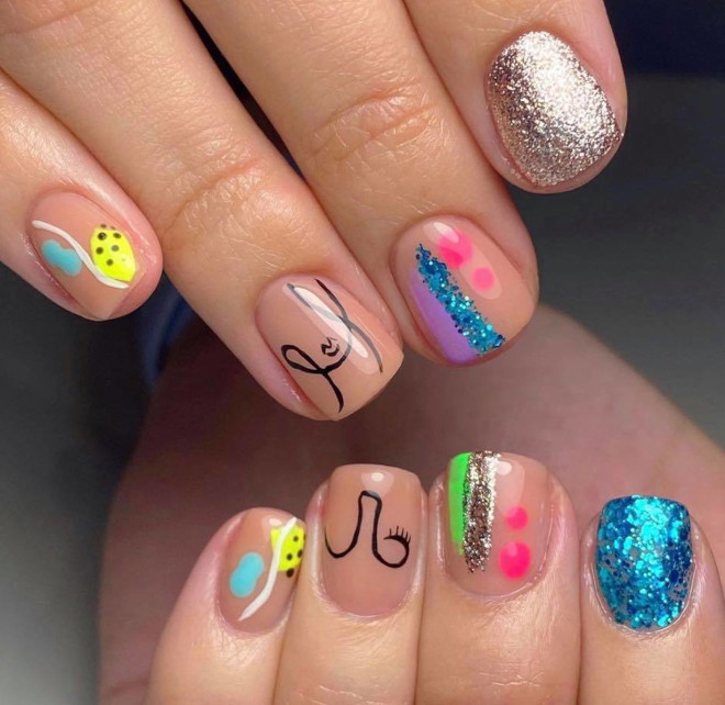 vibrant nail designs that will make everyone go wow