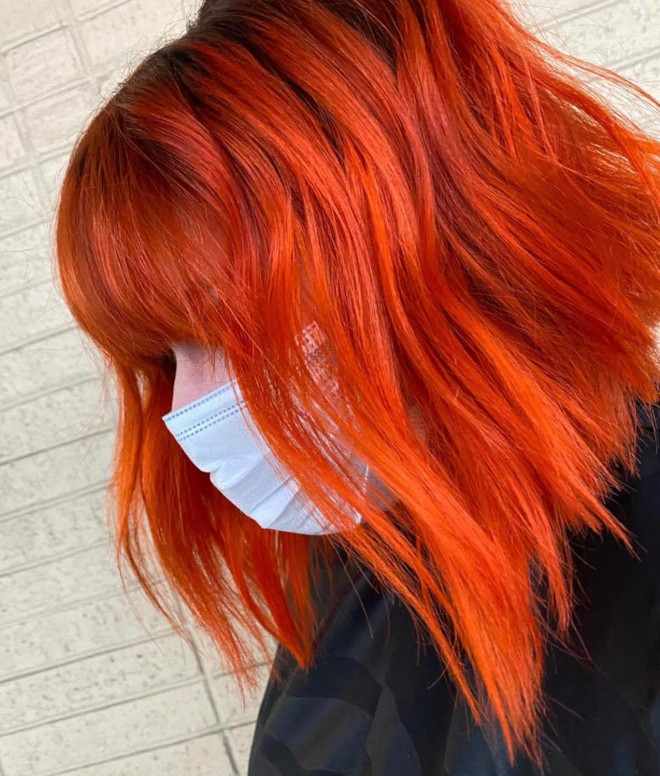 energize your look with the orange hair trend