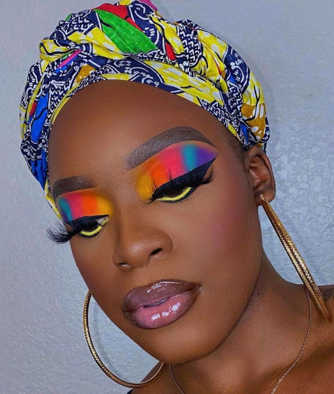 these multicolored makeup looks will get you into spring mood