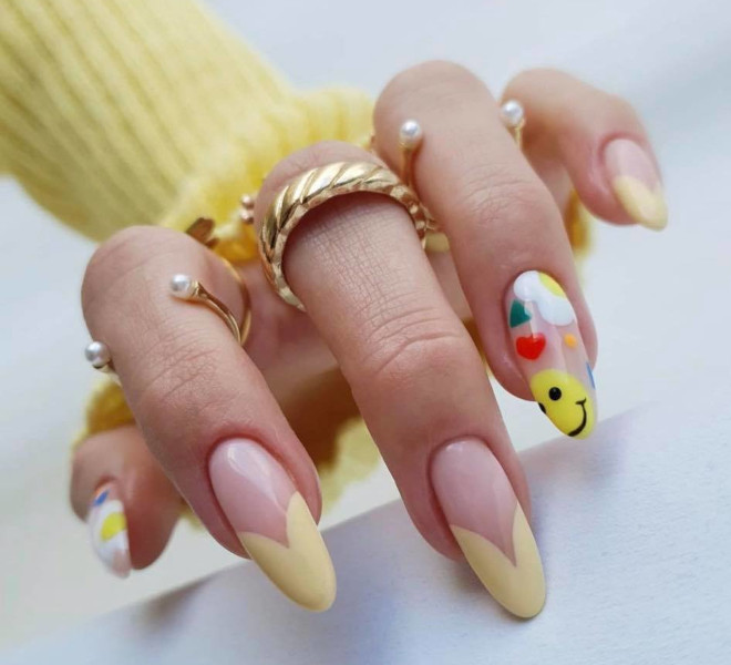 add sunny vibes to your spring look with yellow nails