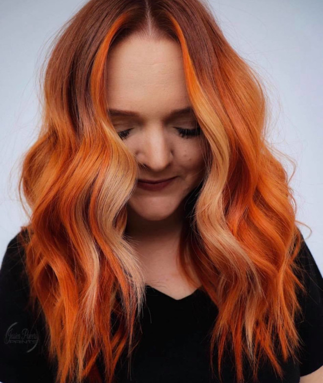 tiger daylily hair color is the spicy spring trend that will give you a fiery look