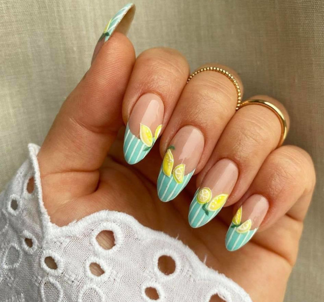 energize your spring look with fruit nails
