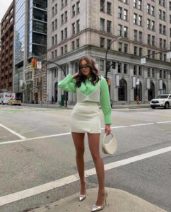 it's leggy time - the chicest ways to style mini skirt outfits