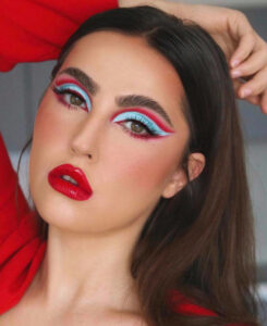 dare to pair bold eye makeup with bold lips this summer