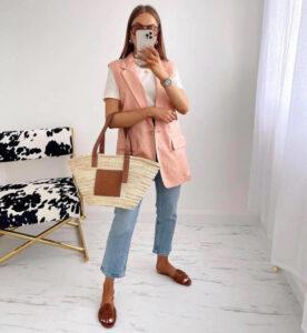 menswear-inspired fashion is dominating the sunny season